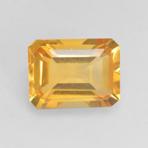 Dark Golden Citrina Gema - 1.6ct Forma octagonal (ID: 533957)