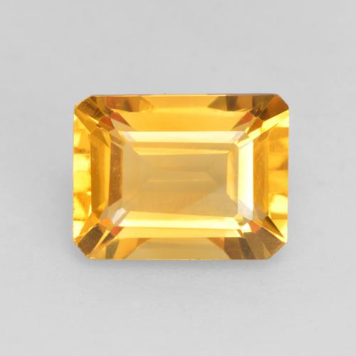 Bright Gold Citrine Gem - 1.6ct Octagon Facet (ID: 533959)
