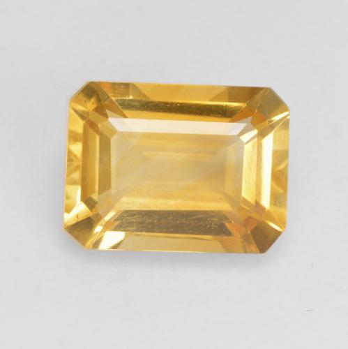 Medium Gold Citrine Gem - 1.5ct Octagon Facet (ID: 534124)