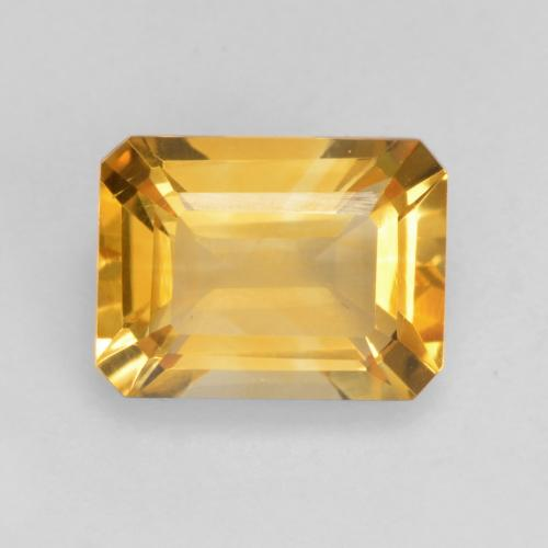 Deep Golden Orange Citrine Gem - 1.5ct Octagon Facet (ID: 534126)