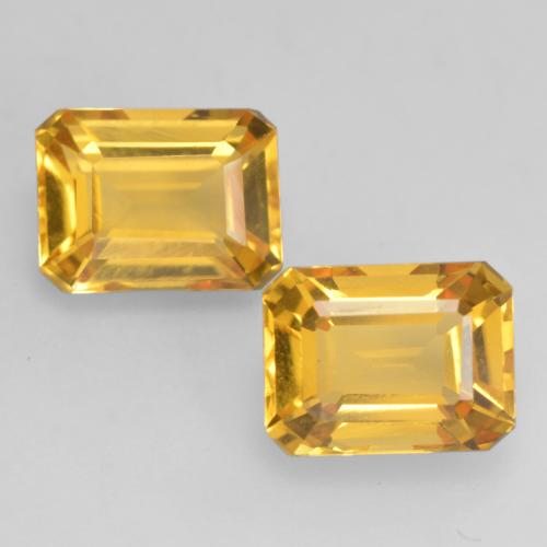 Bright Gold Citrine Gem - 1.6ct Octagon Facet (ID: 534196)