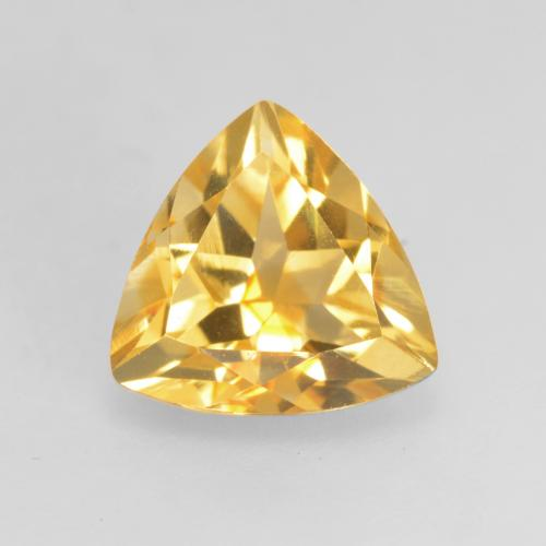 Medium Gold Citrina Gema - 1.2ct Forma trillón (ID: 534202)