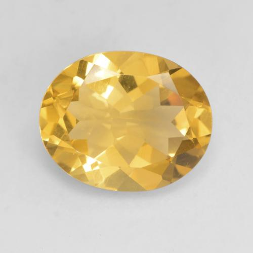 Bright Gold Citrine Gem - 3ct Oval Facet (ID: 534696)