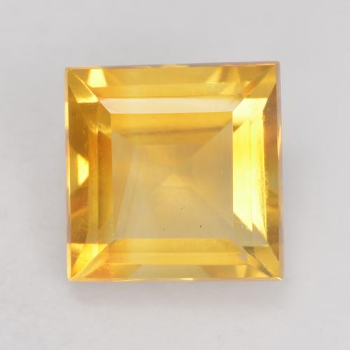Bright Gold Citrina Gema - 1.6ct Forma cuadrada (ID: 534756)