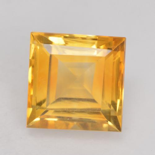Deep Golden Orange Citrine Gem - 1.6ct Square Facet (ID: 534757)