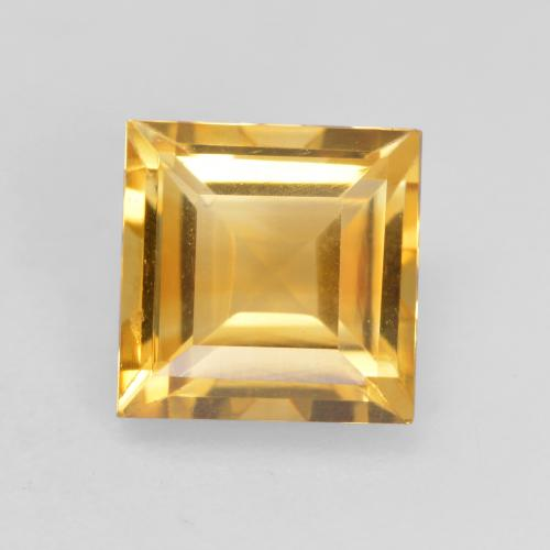 Deep Golden Orange Citrine Gem - 1.5ct Square Facet (ID: 534760)