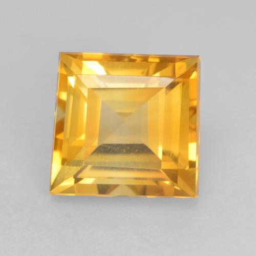 Bright Gold Citrina Gema - 1.9ct Forma cuadrada (ID: 534762)
