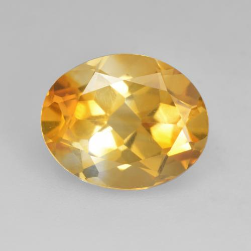 Deep Golden Orange Citrina Gema - 3.1ct Forma ovalada (ID: 534779)