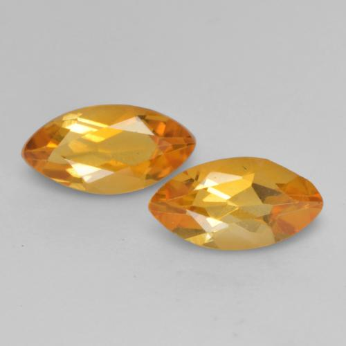 Medium Orange Citrine Gem - 0.5ct Marquise Facet (ID: 537870)