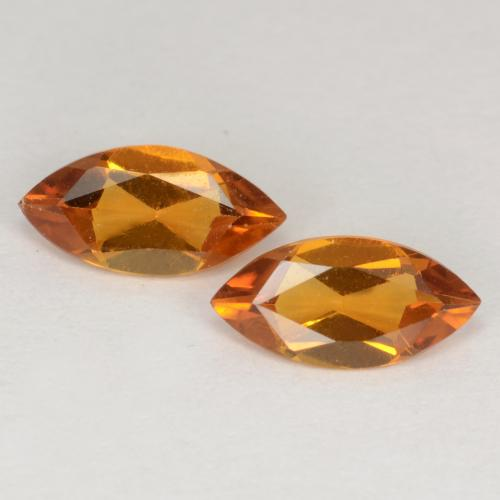 Medium Orange Citrine Gem - 0.4ct Marquise Facet (ID: 538186)