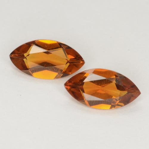 Medium Orange Citrina Gema - 0.5ct Forma marquesa (ID: 538297)