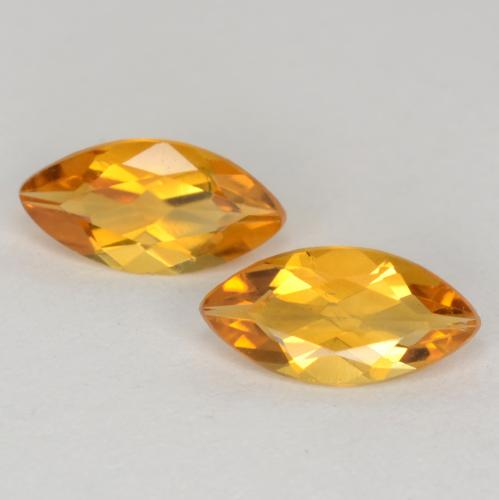 Dark Golden Citrine Gem - 0.4ct Marquise Facet (ID: 541251)