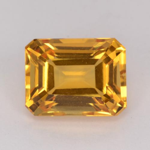 Orange-Gold Citrine Gem - 1.7ct Octagon Facet (ID: 541520)