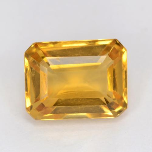 Deep Golden Orange Citrine Gem - 1.6ct Octagon Facet (ID: 541610)