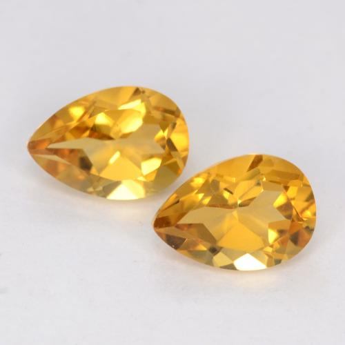 Dark Golden Citrino Gem - 0.7ct Sfaccettatura a pera (ID: 541919)