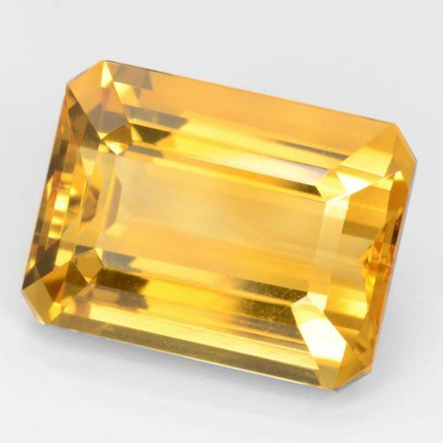 Dark Golden Citrina Gema - 12.3ct Forma octagonal (ID: 543827)