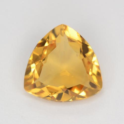 Orange-Gold Citrina Gema - 1.1ct Forma trillón (ID: 544844)