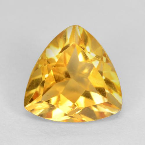 Bright Gold Citrina Gema - 1.1ct Forma trillón (ID: 545777)