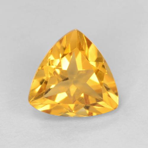 Medium Golden Citrina Gema - 1.2ct Forma trillón (ID: 546169)