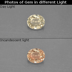 0.47 ct Natural Green/Pink Color-Change Diaspore