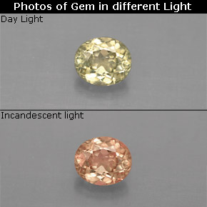 Buy 0.69 ct Green/Pink Color-Change Diaspore 5.71 mm x 4.9 mm from GemSelect (Product ID: 291036)
