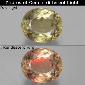 Medium Yellow Color-Change Diaspore Gem - 10.8ct Oval Facet (ID: 381562)