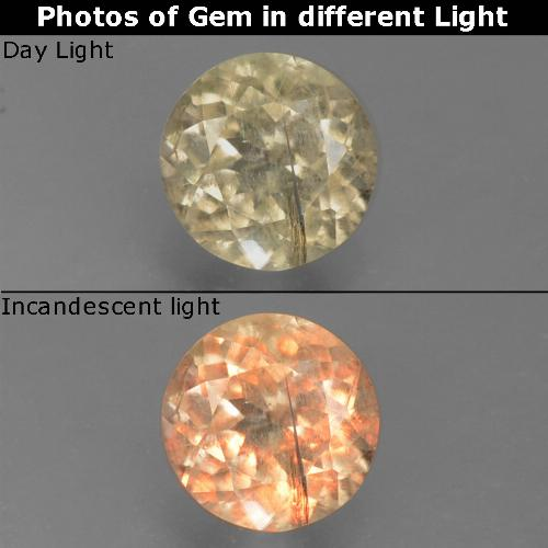 Green to Pink Color-Change Diaspore Gem - 0.6ct Round Facet (ID: 388220)