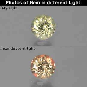 Green to Pink Color-Change Diaspore Gem - 0.6ct Round Facet (ID: 388243)