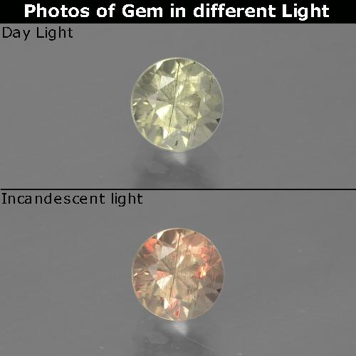 Green to Pink Color-Change Diaspore Gem - 0.5ct Round Facet (ID: 388258)