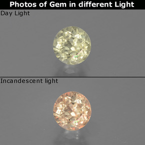Green to Pink Color-Change Diaspore Gem - 0.5ct Round Facet (ID: 388262)