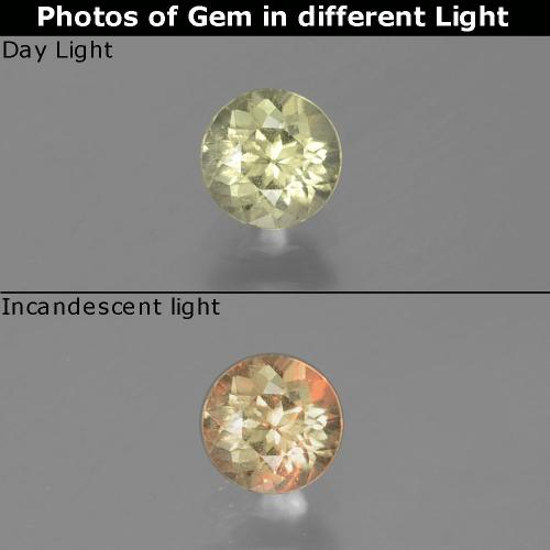 Green to Pink Color-Change Diaspore Gem - 0.7ct Round Facet (ID: 388343)