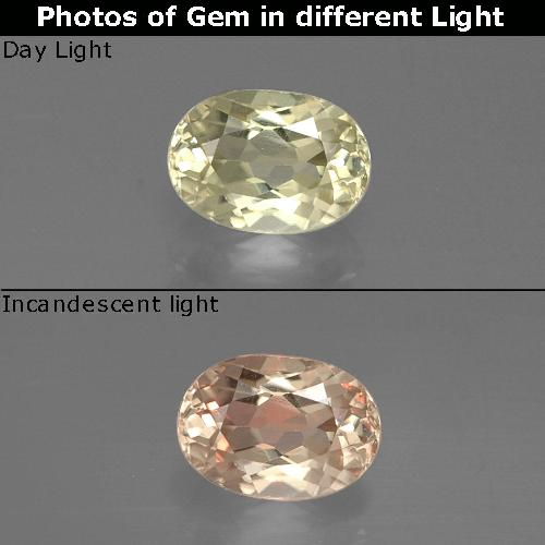 Green to Pink Color-Change Diaspore Gem - 0.8ct Oval Facet (ID: 388552)