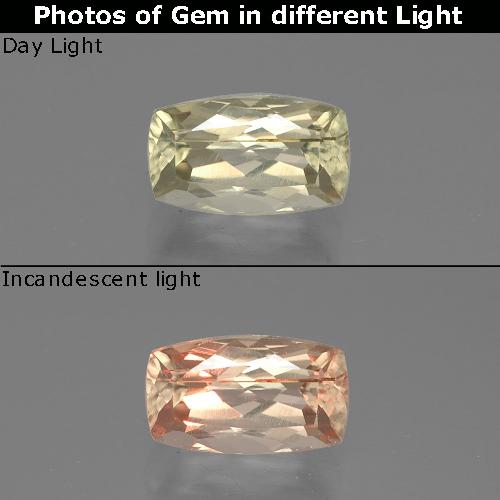 Green to Pink Color-Change Diaspore Gem - 1.3ct Cushion-Cut (ID: 388710)