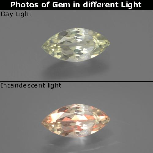 Green to Pink Color-Change Diaspore Gem - 0.8ct Marquise Facet (ID: 389247)