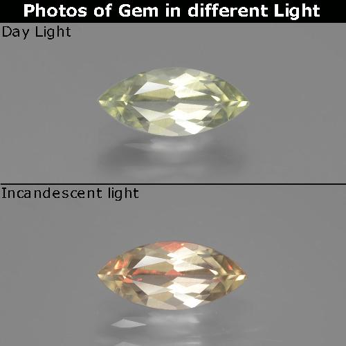 Green to Pink Color-Change Diaspore Gem - 0.8ct Marquise Facet (ID: 389256)