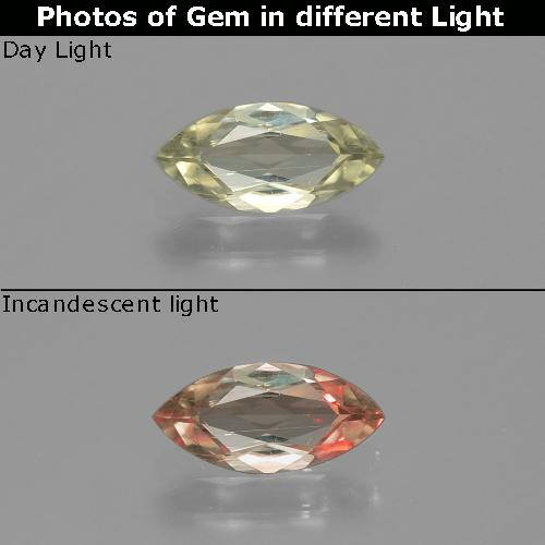 Green to Pink Color-Change Diaspore Gem - 0.6ct Marquise Facet (ID: 390003)