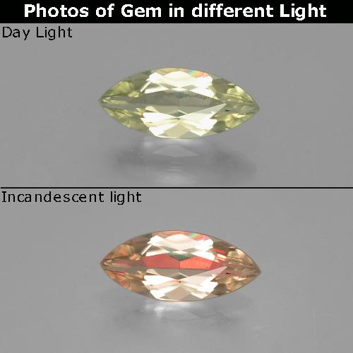 Green to Pink Color-Change Diaspore Gem - 0.8ct Marquise Facet (ID: 390006)