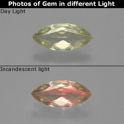 Green to Pink Color-Change Diaspore Gem - 0.8ct Marquise Facet (ID: 390009)
