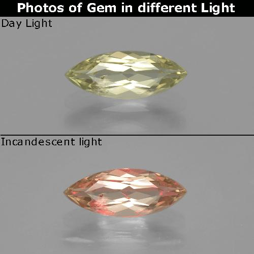 Green to Pink Color-Change Diaspore Gem - 1ct Marquise Facet (ID: 390011)
