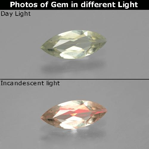 Green to Pink Color-Change Diaspore Gem - 0.6ct Marquise Facet (ID: 390012)
