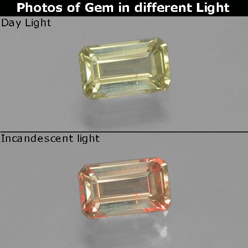 Green to Pink Color-Change Diaspore Gem - 1.1ct Octagon Facet (ID: 390273)