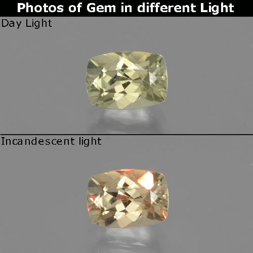 Green to Pink Color-Change Diaspore Gem - 1.1ct Cushion-Cut (ID: 393995)