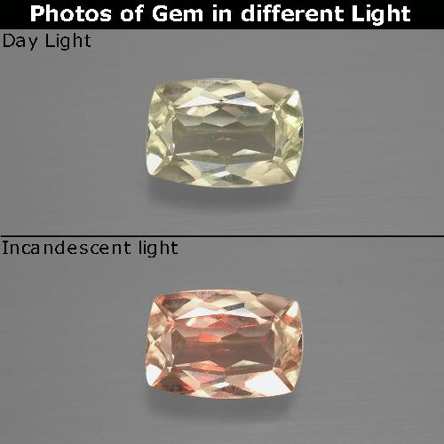 Green to Pink Color-Change Diaspore Gem - 1.2ct Cushion-Cut (ID: 394626)