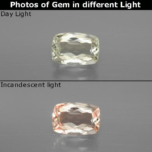Green to Pink Color-Change Diaspore Gem - 1.1ct Cushion-Cut (ID: 394632)