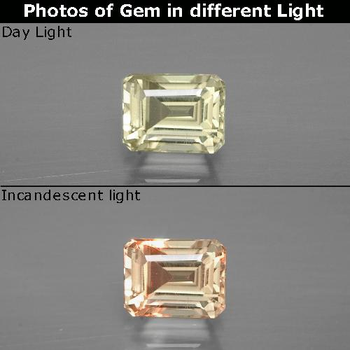 Green to Pink Color-Change Diaspore Gem - 1.1ct Octagon Facet (ID: 394634)