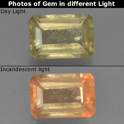 1.2ct Octagon Step Cut Green to Pink Color-Change Diaspore Gem (ID: 395415)
