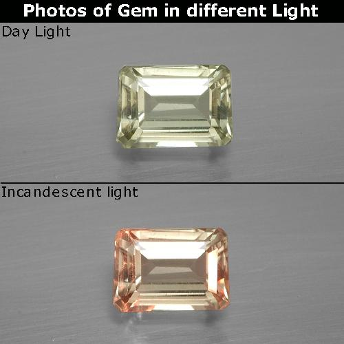 Green to Pink Color-Change Diaspore Gem - 1ct Octagon Facet (ID: 395666)