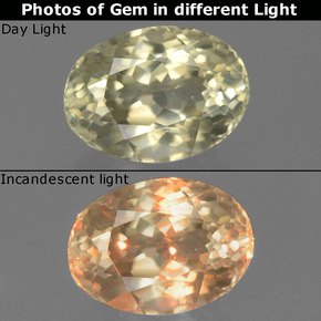 Green to Pink Color-Change Diaspore Gem - 1ct Oval Facet (ID: 396339)