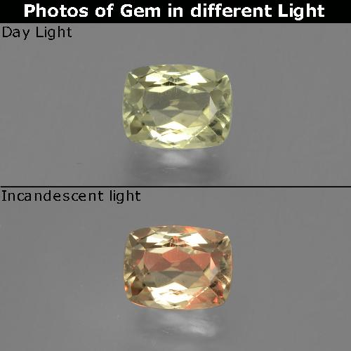 Green to Pink Color-Change Diaspore Gem - 1.4ct Cushion-Cut (ID: 396608)