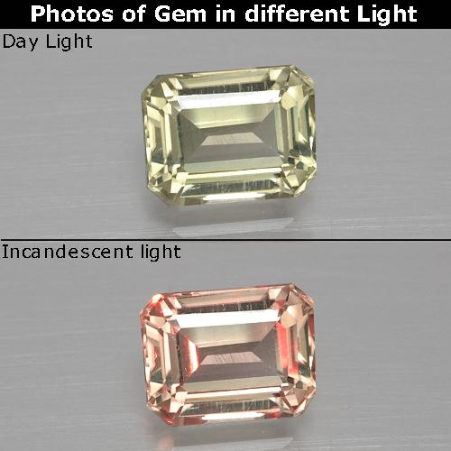 Green to Pink Color-Change Diaspore Gem - 1.1ct Octagon Facet (ID: 396839)